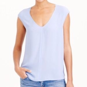 JCrew Cap Sleeve Shirttail Top - PINK!